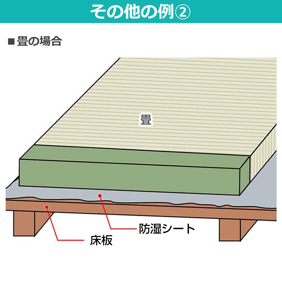 その他の例 畳の場合、床板と畳の間に敷いて下さい