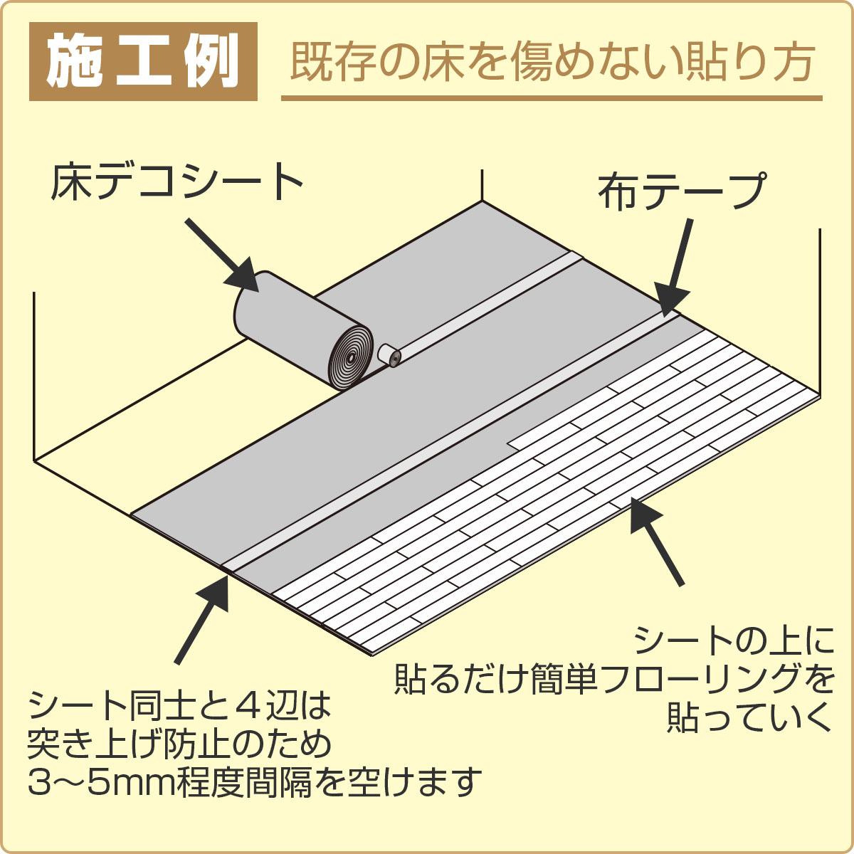 施工例 既存の床を傷めない貼り方