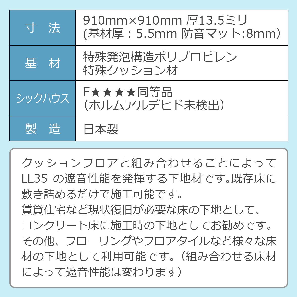 LL35遮音下地材の性能