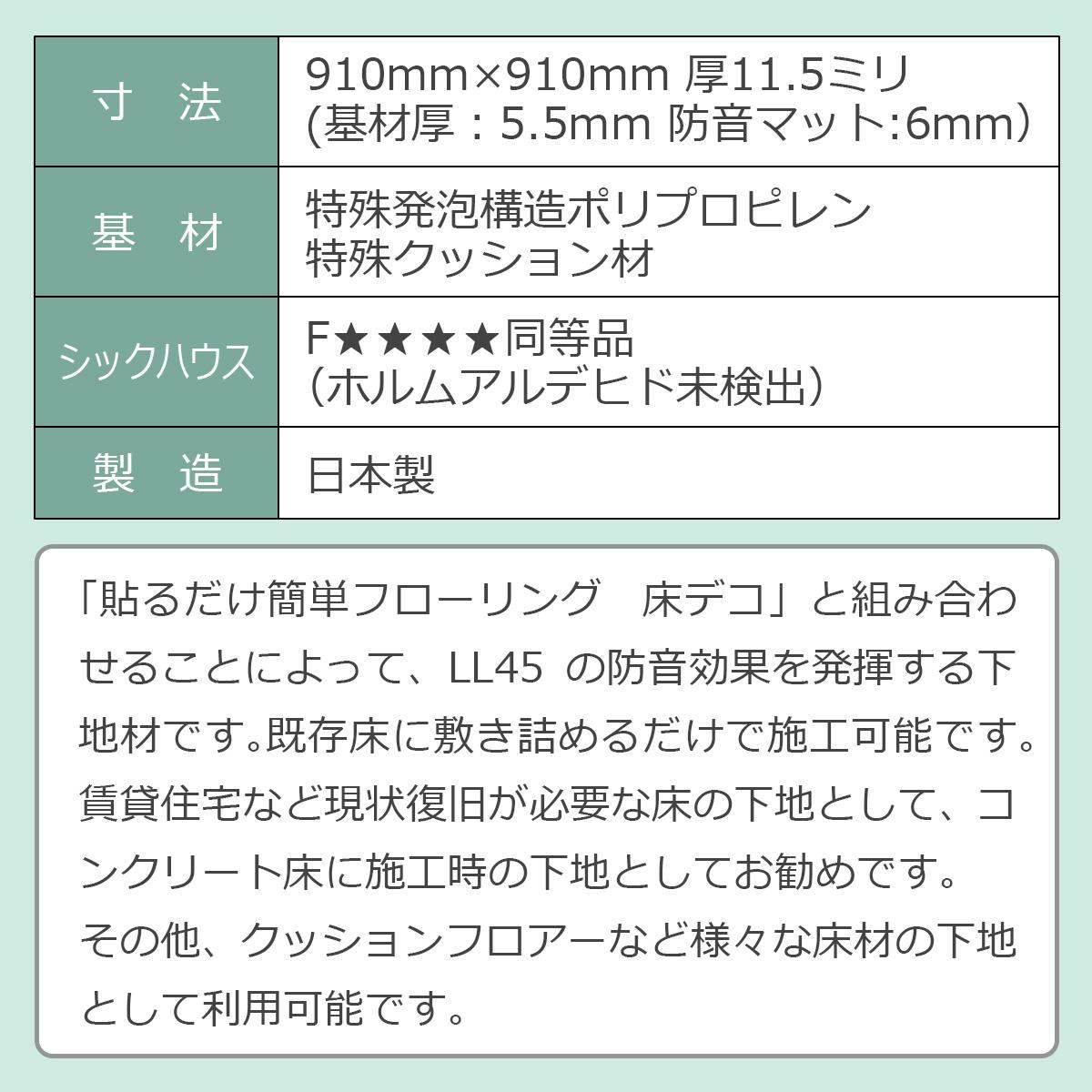 LL45遮音下地材の性能